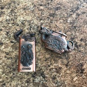 Vintage Copper Lighters
